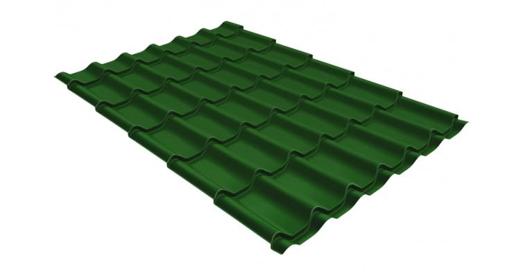 Металлочерепица классик 0,5 Satin RAL 6002 лиственно-зеленый