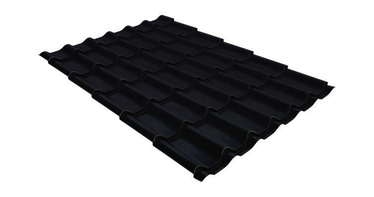 Металлочерепица классик GL 0,5 Velur20 RAL 9005 черный