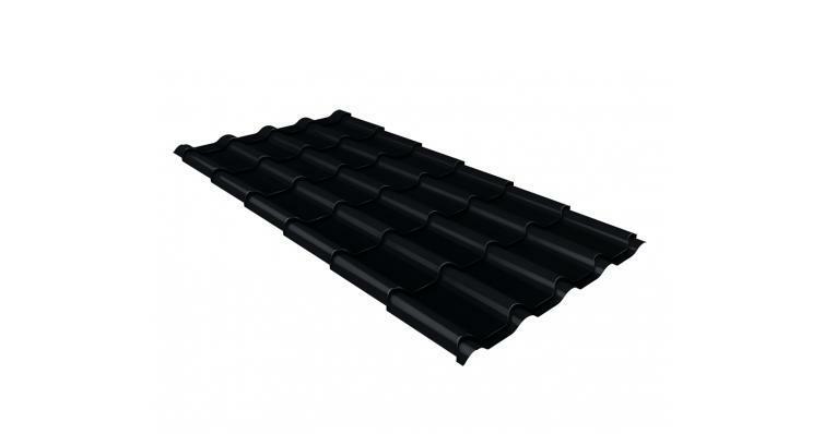 Металлочерепица камея GL 0,5 Velur20 RAL 9005 черный