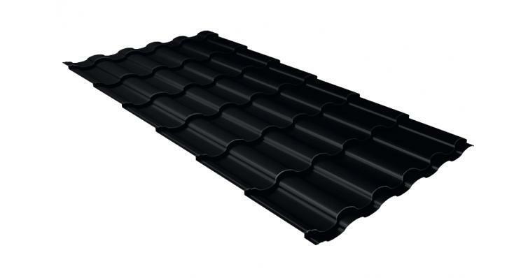 Металлочерепица кредо GL 0,5 Velur20 RAL 9005 черный