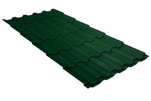 Металлочерепица квинта плюс GL 0,5 Quarzit lite RAL 6005 зеленый мох