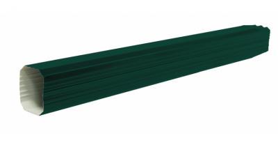 Труба прямоугольная 2м PE RAL 6005 зеленый мох
