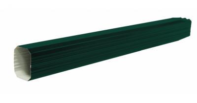 Труба прямоугольная 1м PE RAL 6005 зеленый мох