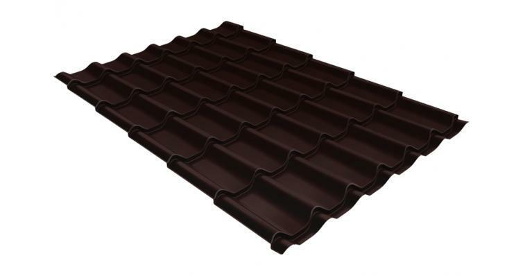 Металлочерепица классик GL 0,5 Quarzit lite RAL 8017 шоколад blesk