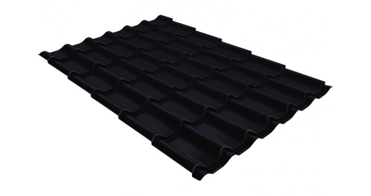 Металлочерепица классик GL 0,5 Quarzit lite RAL 9005 черный