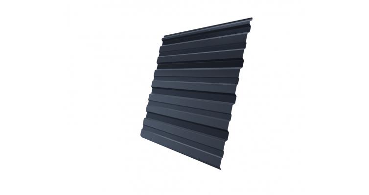 полимерное покрытиеПрофнастил С10R 0,45 Drap RAL 7024 мокрый асфальт
