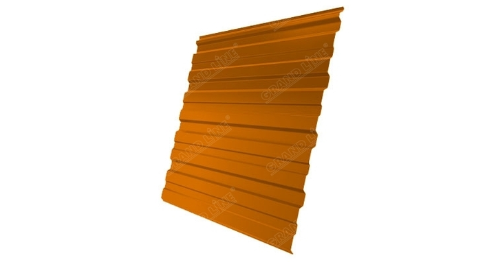 Профнастил С10R 0,45 PE RAL 2004 оранжевый