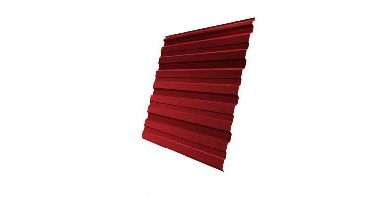 Профнастил С10R 0,45 PE RAL 3003 рубиново-красный