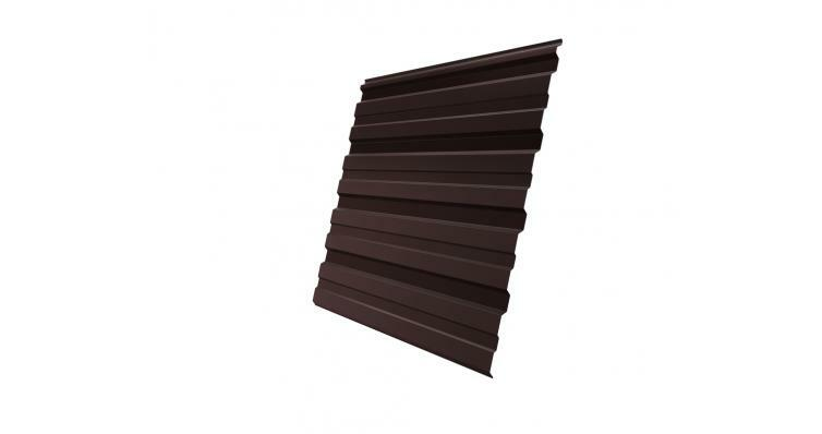 Профнастил С10R 0,35 PE RAL 8017 шоколад