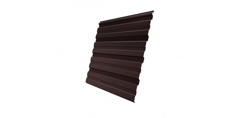 Профнастил С10R 0,45 PE RAL 8017 шоколад