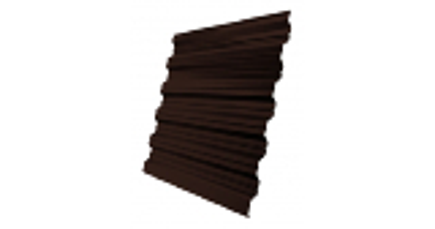 Профнастил HC35R 0,5 GreenCoat Pural Matt RR 887 шоколадно-коричневый (RAL 8017 шоколад)
