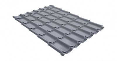 Металлочерепица классик 0,45 PE RAL 9006 бело-алюминиевый
