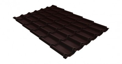 Металлочерепица классик GL 0,5 Polydexter Matt RAL 8017 шоколад