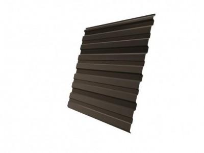 Профнастил С10R 0,5 Satin RR 32 темно-коричневый