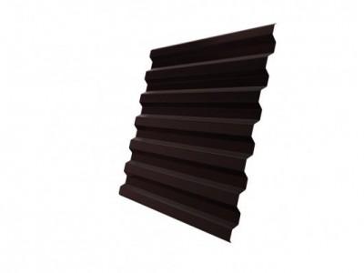 Профнастил С21R 0,45 PE-Double RAL 8017 шоколад