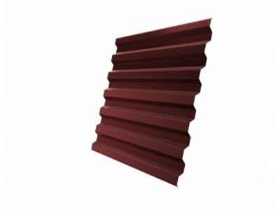 Профнастил С21R 0,45 PE RAL 3009 оксидно-красный