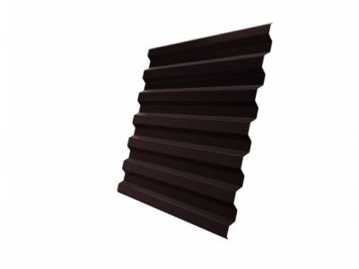 Профнастил С21R 0,65 PE RAL 8017 шоколад