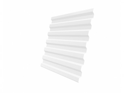 Профнастил С21R 0,35 PE RAL 9003 сигнальный белый