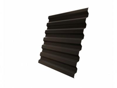 Профнастил С21R 0,45 PE RR 32 темно-коричневый