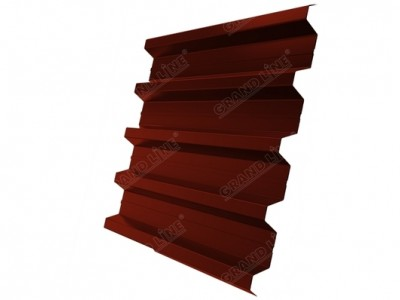 Профнастил H60R 0,5 Satin RAL 3009 оксидно-красный