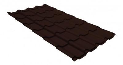 Металлочерепица камея GL 0,5 GreenCoat Pural Matt RR 887 шоколадно-коричневый (RAL 8017 шоколад)
