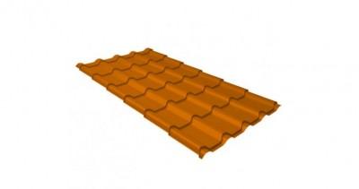 Металлочерепица камея 0,45 PE RAL 2004 оранжевый