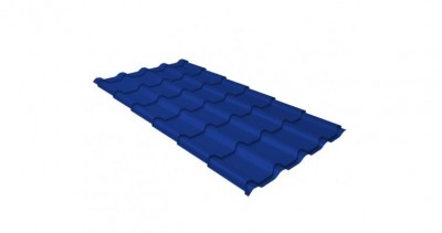 Металлочерепица камея 0,45 PE RAL 5002 ультрамариново-синий