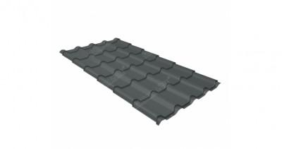 Металлочерепица камея 0,45 PE RAL 7005 мышино-серый