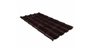 Металлочерепица камея 0,45 PE RAL 8017 шоколад