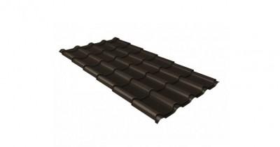 Металлочерепица камея GL 0,5 Velur20 RR 32 темно-коричневый