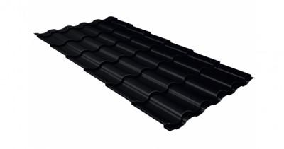 Металлочерепица кредо GL 0,5 Quarzit lite RAL 9005 черный
