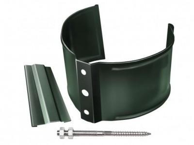 Кронштейн трубы на кирпич, 90мм RR 11 темно-зеленый