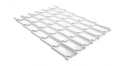 Металлочерепица модерн 0,45 PE RAL 9003 сигнальный белый