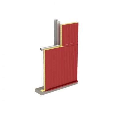 Стеновая трехслойная сэндвич-панель МЕТАЛЛ ПРОФИЛЬ с открытым креплением Z-LOCK МП ТСП–Z