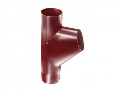 Тройник трубы,90 мм RAL 3011 коричнево-красный