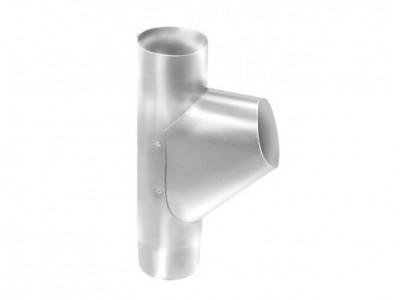 Тройник трубы,90 мм RAL 9003 сигнальный белый