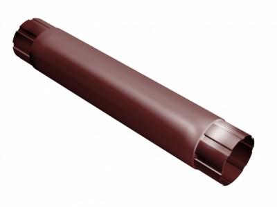Труба круглая соединит.,90мм 1м RAL 3011 коричнево-красный