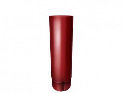 Труба круглая,90 мм 3 м RAL 3011 коричнево-красный