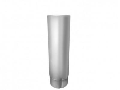 Труба круглая,90 мм 3 м RAL 9003 сигнальный белый