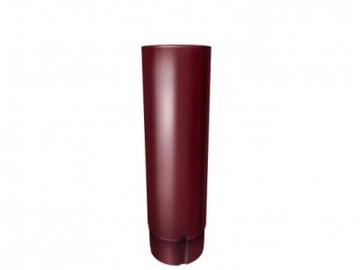 Труба круглая,90 мм 3 м RAL 3005 красное вино
