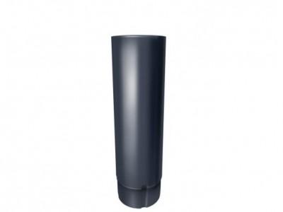 Труба круглая,90 мм 3 м RAL 7024 мокрый асфальт