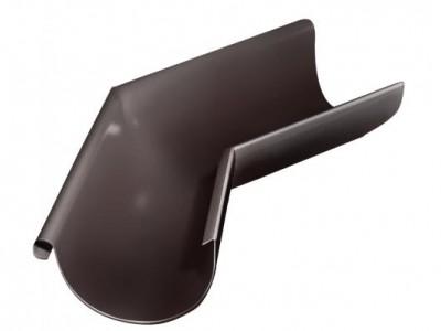 Угол желоба внешний, 135 гр,125 мм RAL 8017 шоколад