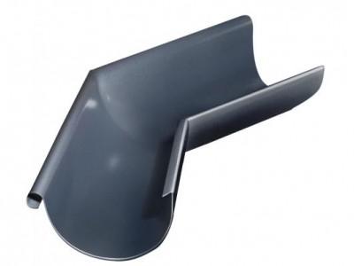 Угол желоба внешний, 135 гр,125 мм RAL 7024 мокрый асфальт