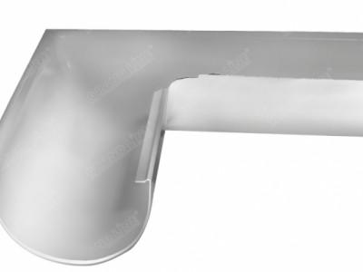 Угол желоба внешний, 90 гр,125 мм RAL 9003 сигнальный белый