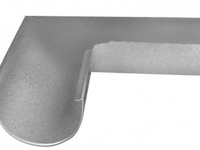 Угол желоба внешний, 90 гр,125 мм Al-Zn