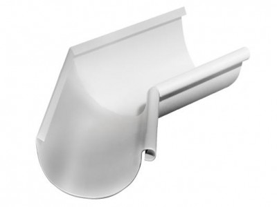Угол желоба внутренний, 135 гр,125 мм RAL 9003 сигнальный белый