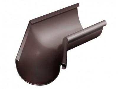 Угол желоба внутренний, 135 гр,125 мм RAL 8017 шоколад