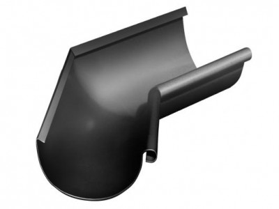 Угол желоба внутренний, 135 гр,125 мм RAL 9005 черный