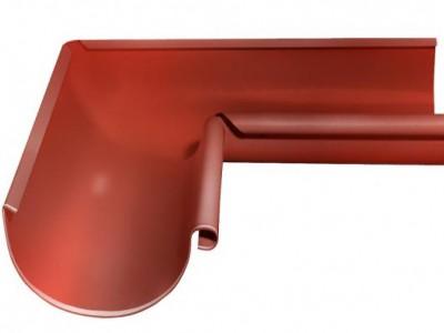 Угол желоба внутренний, 90 гр,125 мм RAL 8004 терракота