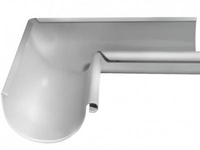 Угол желоба внутренний, 90 гр,125 мм RAL 9003 сигнальный белый
